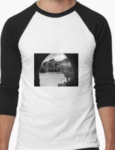 Scotty's Castle, Death Valley Men's Baseball ¾ T-Shirt