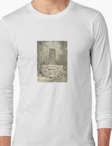 Idol and Altar at Copan – Ancient Monuments in Central America (Catherwood, Frederick) Long Sleeve T-Shirt