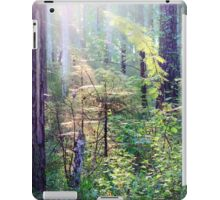 Sunny morning in the forest iPad Case/Skin