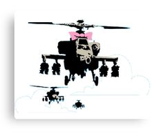 Banksy - Happy Choppers Canvas Print