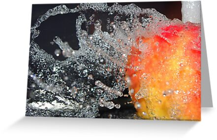 Water off an apple's back by Kerry  Hill