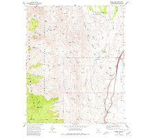 USGS TOPO Map Arizona AZ Bumble Bee 310649 1969 24000 Photographic Print