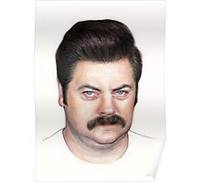 Ron Swanson Portrait Nick Offerman Art Poster