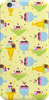 Ice Cream Sundae Pattern by ArtVixen