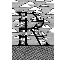 Letter R Architecture Section Alphabet Photographic Print