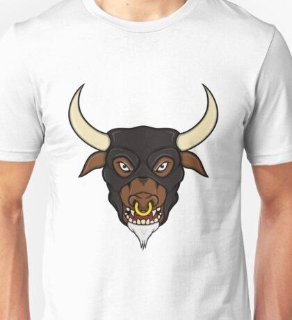 Masked Minotaur Bull Head Unisex T-Shirt