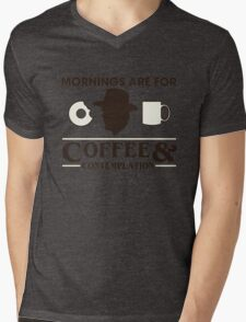 Stranger Things: Mornings are for Coffee and Contemplation (version one) Mens V-Neck T-Shirt