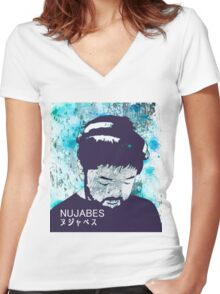 Calm Nujabes  Women's Fitted V-Neck T-Shirt