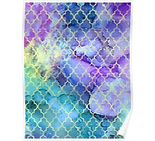 Watercolor and Ink Moroccan  Pattern Poster