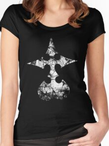 Kingdom Hearts Nobody grunge Women's Fitted Scoop T-Shirt