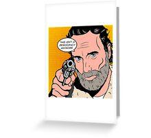 Rick Pop-Art Greeting Card