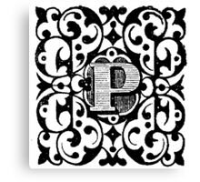 Small Cap Letter P Canvas Print