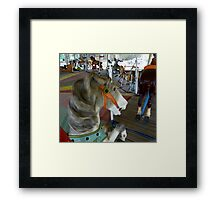 Over The Jumps Framed Print