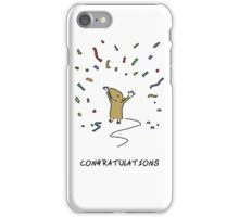 Mouse Congratulations iPhone Case/Skin