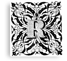 Small Cap Letter R Canvas Print