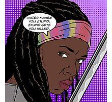 Michonne Pop Art Photographic Print