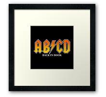 ABCD Back In Book Framed Print