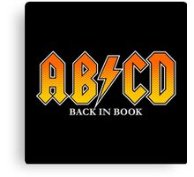 ABCD Back In Book Canvas Print