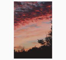 Peach Sunset Sky One Piece - Short Sleeve