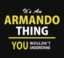 It's An ARMANDO thing, you wouldn't understand !! by satro