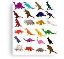 Dinosaur toys Canvas Print