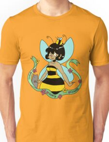 Bee Fairy and Cat Unisex T-Shirt