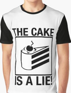 Portal The Cake is a Lie  Graphic T-Shirt