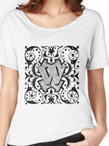 Small Cap Letter W Women's Relaxed Fit T-Shirt