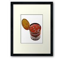 flies in my soup Framed Print