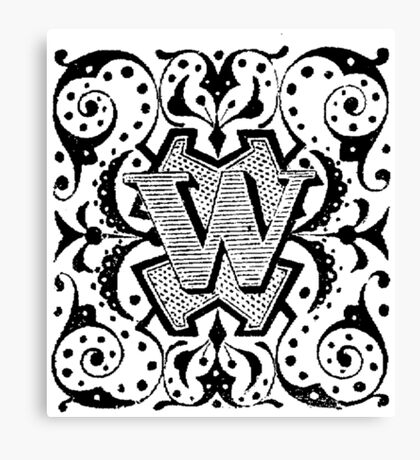 Small Cap Letter W Canvas Print
