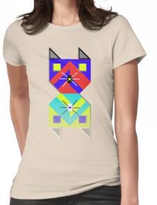 Cat reflection. Womens Fitted T-Shirt