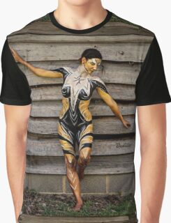 Badillo Preistess Shaman Queen Nymph of ebony, ivory and gold Graphic T-Shirt