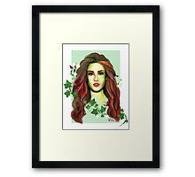 The Lady of Plants Framed Print