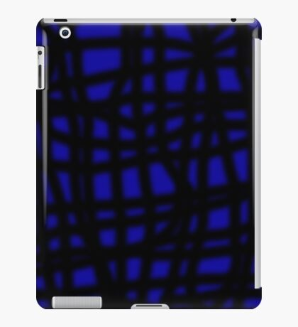 Blue and black decorative abstraction iPad Case/Skin