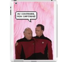 Q and Picard  iPad Case/Skin