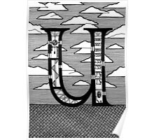 Letter U Architecture Section Alphabet Poster