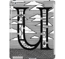 Letter U Architecture Section Alphabet iPad Case/Skin