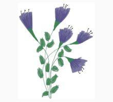 Purple Flower Garden One Piece - Short Sleeve