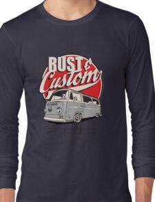 Rust & Custom Bay Window Campervan Long Sleeve T-Shirt