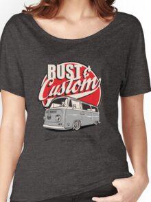Rust & Custom Bay Window Campervan Women's Relaxed Fit T-Shirt