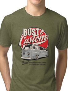 Rust & Custom Bay Window Campervan Tri-blend T-Shirt