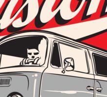 Rust & Custom Bay Window Campervan Sticker
