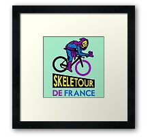 Cycling Skeletor Framed Print