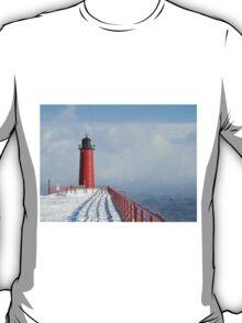 Milwaukee Lighthouse With Sea Smoke T-Shirt