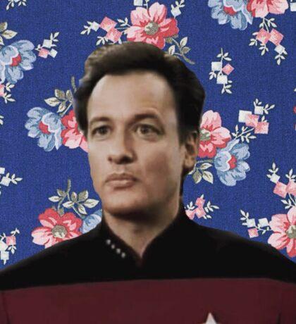 Floral Q  Sticker