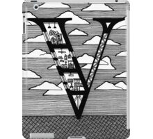 Letter V Architecture Section Alphabet iPad Case/Skin