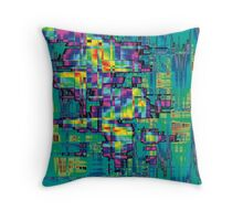 More Rainbow Blocky Stuff Throw Pillow