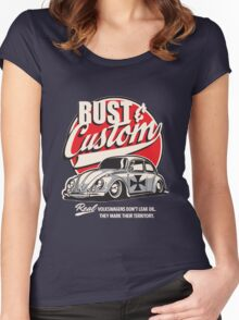 Rust & Custom Lowrider Beetle Women's Fitted Scoop T-Shirt