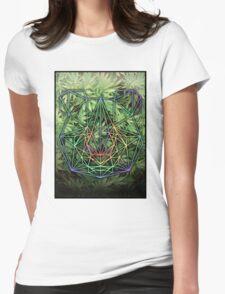 Geometric Panda Womens Fitted T-Shirt