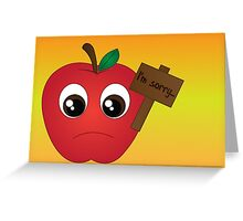 applelogy (English) Greeting Card